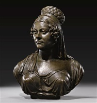 bust of a noblewoman by gottfried (johann gottfried) schadow