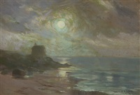 moonlight, portmarnock by henry william moss