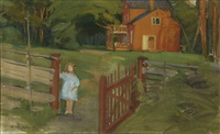 girl by a gate by alexander rapp