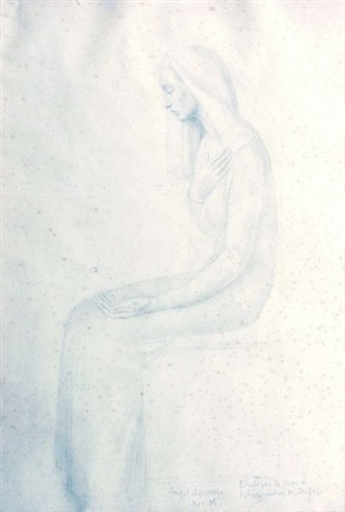 la vierge de l'annonciation (study) by angel zárraga