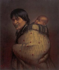 ana rupene and child by gottfried lindauer