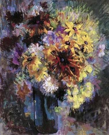 bouquet de fleurs sur le guéridon by suzanne kaehrling