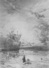 unloading the catch, evening by charles frederick allbon