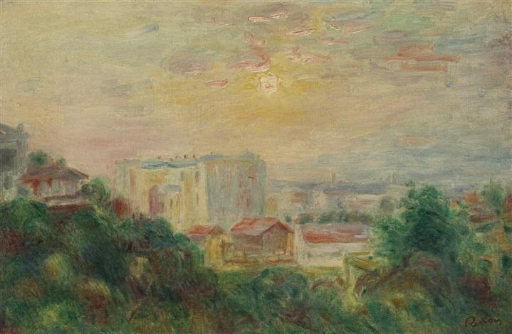 vue de montmartre by pierre auguste renoir
