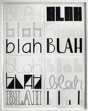 blahs ii in 4 parts by tauba auerbach