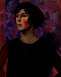 untitled - portrait of a dark-haired woman by gertrude percival
