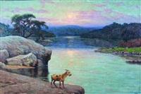 tarde en el rio anisacate by ceferino carnacini
