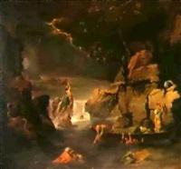 le deluge (d'apres nicolas poussin) by jean françois pierre peyron