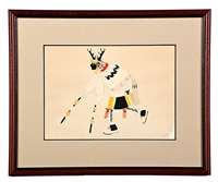 antelope dancer (3 works) by jose angela aguilar