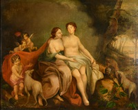 diana and her lover (allegorical) by jacob samuel beck