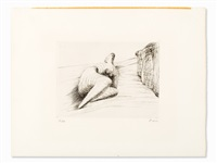 'curved reclining figure in landscape ii' by henry moore