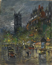 la tour saint jacques by konstantin alexeievitch korovin