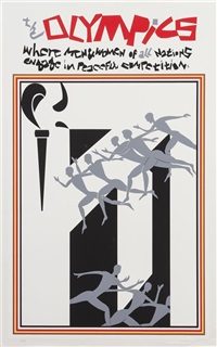 olympic poster by romare bearden