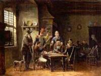 soldaten in einer schänke beim kartenspiel by pierre jean jacques fardon
