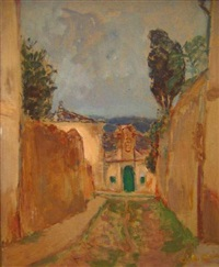 village du sud de la france by georges andre klein