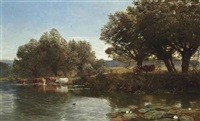 august days by george vicat cole