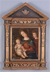 madonna and child and st. john the baptist by continental school