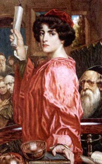 portia, from the merchant of venice by g.w. smetham-jones