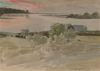 river at mandurah by james walter robert linton