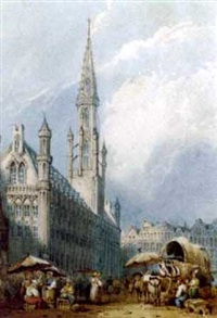 market day, brussels by frederick mercer
