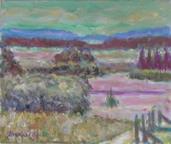 paysage aux arbres by czeslaw rzepinski