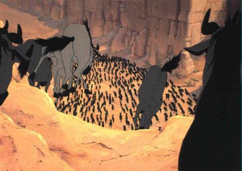the lion king wildebeest stampede by walt disney studios on artnet