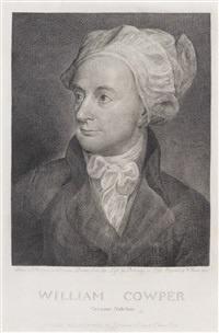 cowper, william (1731-1800) (after george romney) by william blake