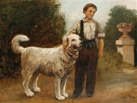 a boy and his dog by jules breton