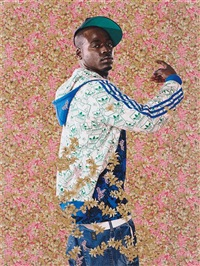 after john raphael smith's a bacchante after sir joshua reynolds by kehinde wiley