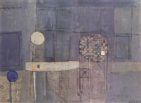 abstract composition in grey by henry mundy