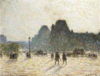place de la concorde by anatole eugène hillairet