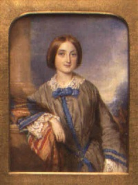portrait of matilda jane, daughter of sir william edmund cradock hartopp by reginald easton