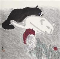 黑猫白猫 (black cat and white cat) by jia pingxi