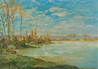 au bord du lac by alexei konstantinovich korovin