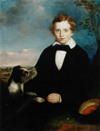 young boy with his favorite terrier by bennett hubbard
