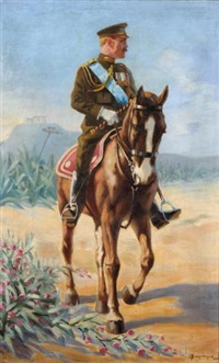 king george on horseback by spiros bitoropoulos