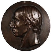 portrait of william wordsworth, head profile by thomas woolner