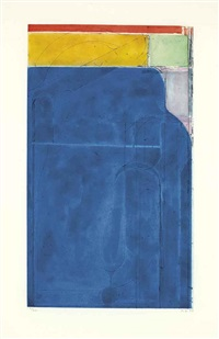 large bright blue by richard diebenkorn
