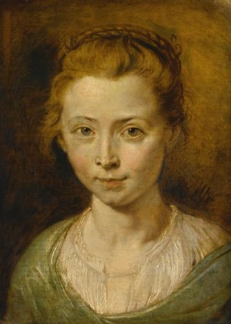 portrait of a young girl possibly clara serena rubens the artists daughter by sir peter paul rubens