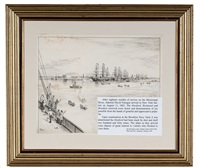 farragut's fleet entering new york harbor by xanthus russell smith