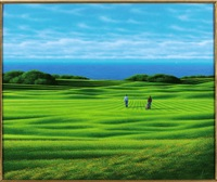 green e mare (con giocatori di golf) by daniele fissore