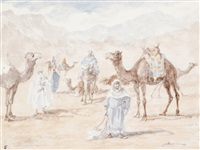 haltes de caravanes - chameau (various sizes; 3 works) by jules rabannes