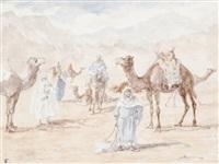 haltes de caravanes - chameau (various sizes; 3 works) by jules rabannes