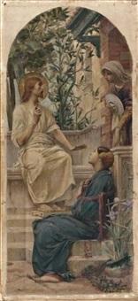 le christ devant marthe et marie by luc olivier merson