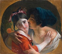 the kiss by feodor antonovich moller