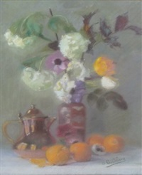 nature morte au bouquet by gustav adolf goldberg