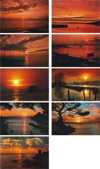 sunsets (set of 9) by hans peter feldmann