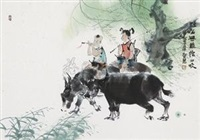 牧童 by deng jingmin
