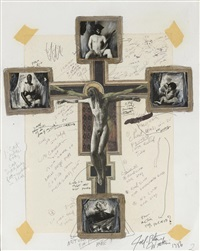 maquette for the crucifix by joel-peter witkin