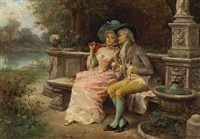 the flirting couple by antonio lonza